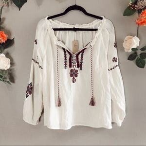 NWT American Eagle | Embroidered blouse